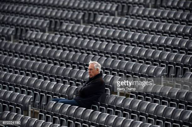 A spectator looks on during the Specsavers County Championship Division Two match between Gloucestershire and Durham at The Brightside Ground on...