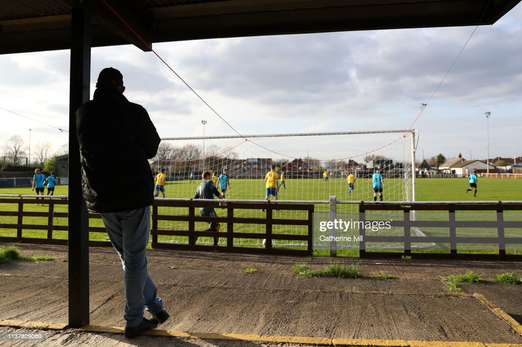 GBR: Bedfont & Feltham v Farnham Town - Cherry Red Records Combined Counties Football League Division One