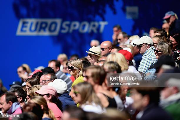 Spectators are seen during Day six of the Nuernberger Versicherungscup 2015 on May 21 2015 in Nuremberg Germany