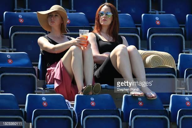 Spectators are seen during the Viking Classic Birmingham at Edgbaston Priory Club on June 13, 2021 in Birmingham, England.