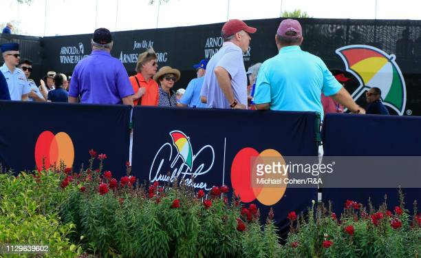 Spectators arrive during The Open Qualifying Series part of the Arnold Palmer Invitational at Bay Hill Club and Lodge on March 10 2019 in Orlando...
