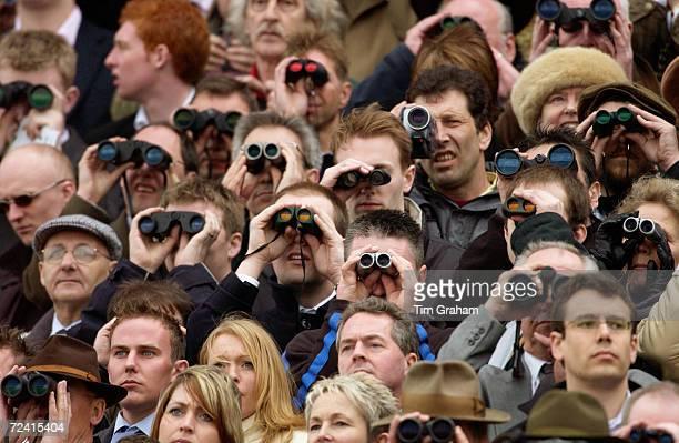 Spectators at the Cheltenham races Gloucestershire United Kingdom