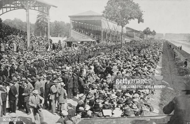 Spectators at the European Grand Prix in Monza Italy September 9 from L'Illustrazione Italiana Year L No 37 September 16 1923