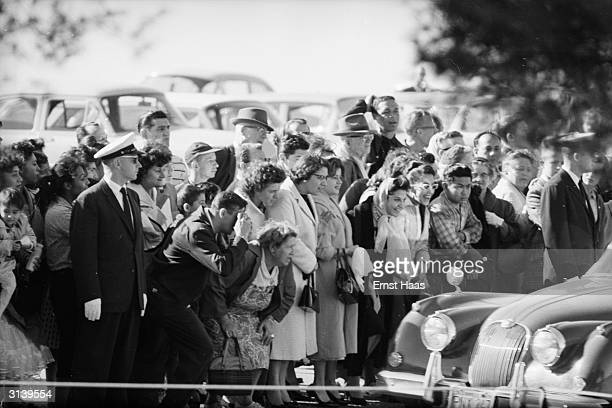 Spectators at the funeral of American film actor Clark Gable at the Forest Lawn Cemetery in Los Angeles California