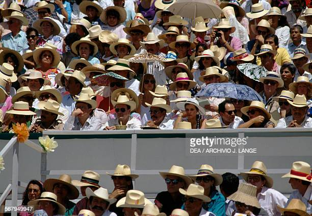 Spectators at the Guelaguetza festival Oaxaca Mexico