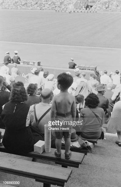 Spectators at the opening ceremony of the Olympic Games Wembley Stadium London 29th July 1948 Original Publication Picture Post 4582 Olympic Games...