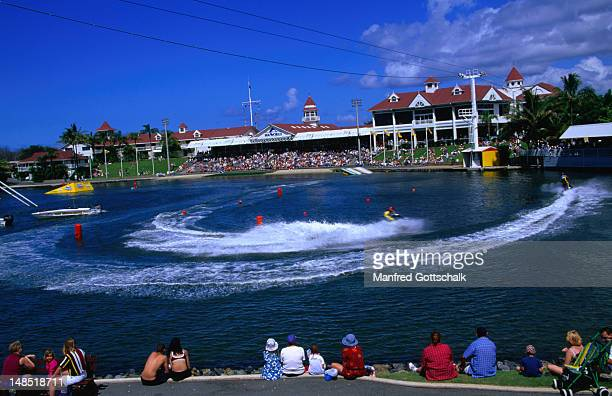 Spectators at the Water Ski Spectacular at Sea World on the Gold Coast