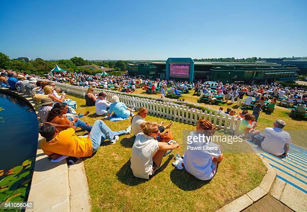 Spectators at Wimbledon Championship