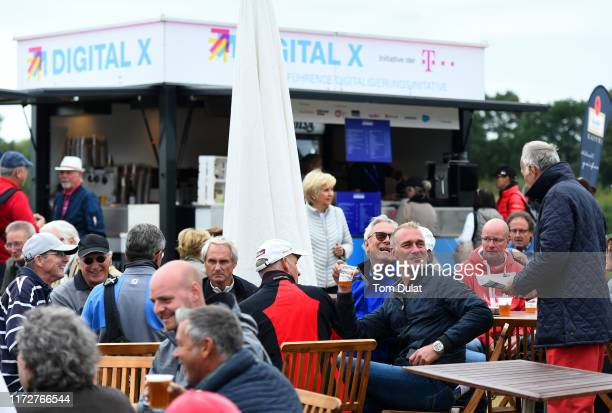 Spectators attend Day Two of the Porsche European Open at Green Eagle Golf Course on September 06 2019 in Hamburg Germany