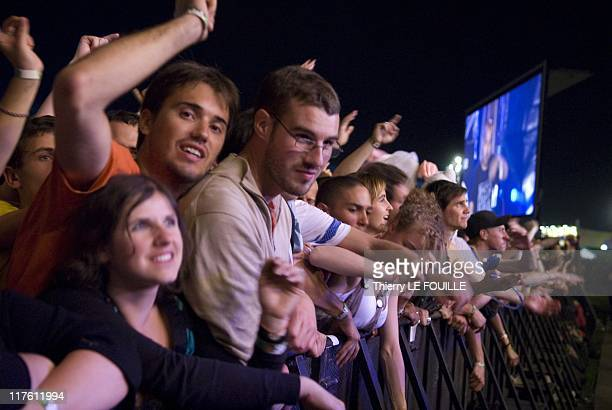 Spectators attending concerts during 2011 Solidays Festival on June 25 2011 in Paris France