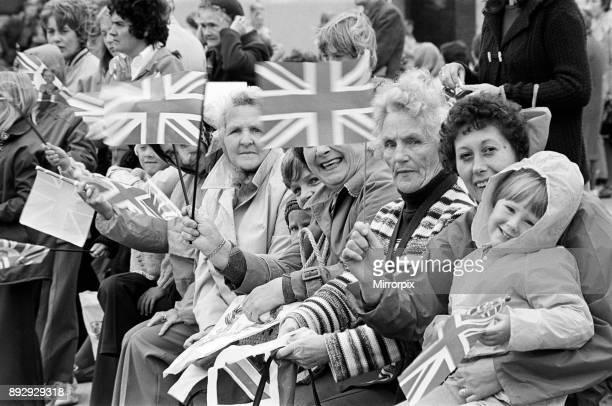 Spectators await Queen Elizabeth II in Eston during her Silver Jubilee tour 14th July 1977