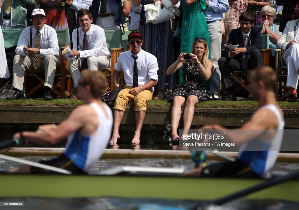 df6dfd012 Spectators cheer on crews during day four of the Royal Henley Regatta