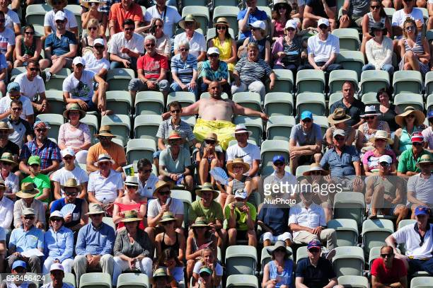 Spectators during a match between Jerzy Janowicz and Grigor Dimitrov in the round of eight of the Mercedes Cup in Stuttgart Germany on June 15 2017