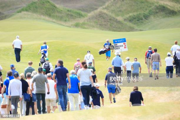 Spectators during Day Three of the WINSTONgolf Senior Open at WINSTONlinks on July 15 2018 in Schwerin Germany