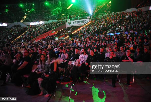Spectators during Dota 2 Major Final match between Vici Gaming and Virtuspro on February 25 2018 in Katowice Poland