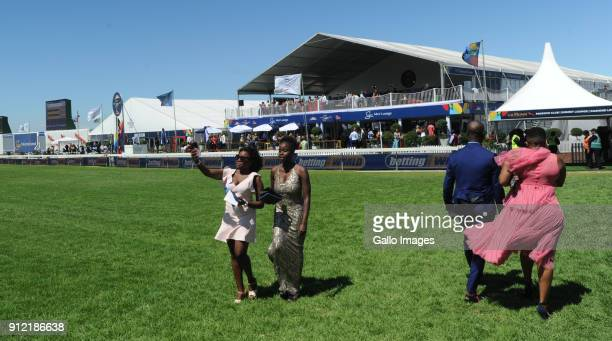 Spectators during the 2018 Sun Met at Kenilworth Racecourse on January 27 2018 in Cape Town South Africa The 134th edition of the Sun Met brings...