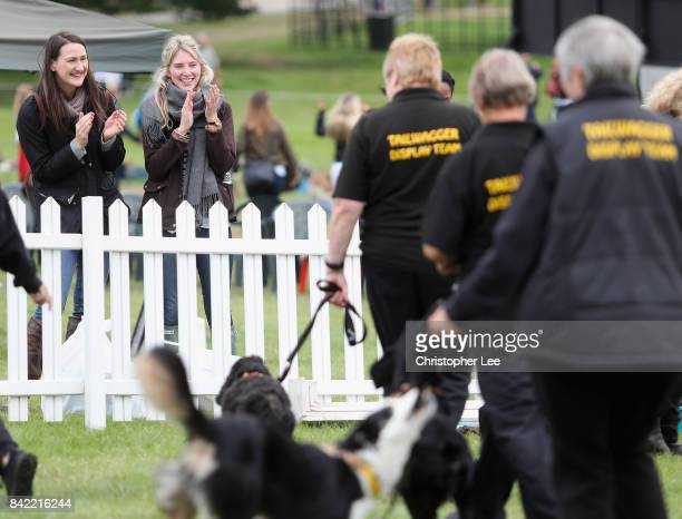 Spectators enjoy the Tail Waggers Club dog display during Day Four of The Land Rover Burghley Horse Trials 2017 on September 2 2017 in Stamford...