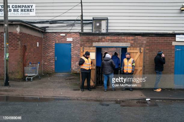Spectators entering the ground before Macclesfield Town played Grimsby Town in a SkyBet League 2 fixture at Moss Rose. The home club had suffered...