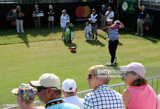 Spectators follow the action during The Open Qualifying Series part of the Arnold Palmer Invitational at Bay Hill Club and Lodge on March 10 2019 in...