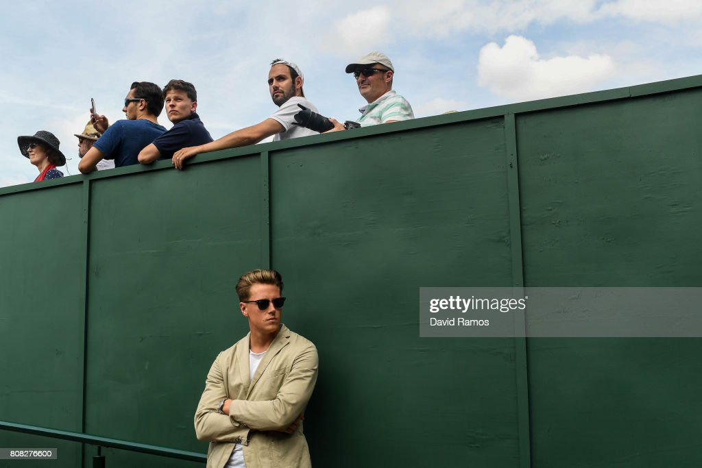 Spectators follow the matches on day two of the Wimbledon Lawn Tennis Championships at the All England Lawn Tennis and Croquet Clubon July 4, 2017 in London, England.