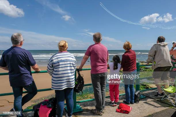Spectators gather to watch the 30th Sunderland International Air show on July 28 2018 in Sunderland England Held over three days on and above the...