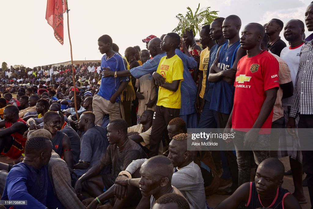 South Sudanese Wrestling In Shirkat : News Photo