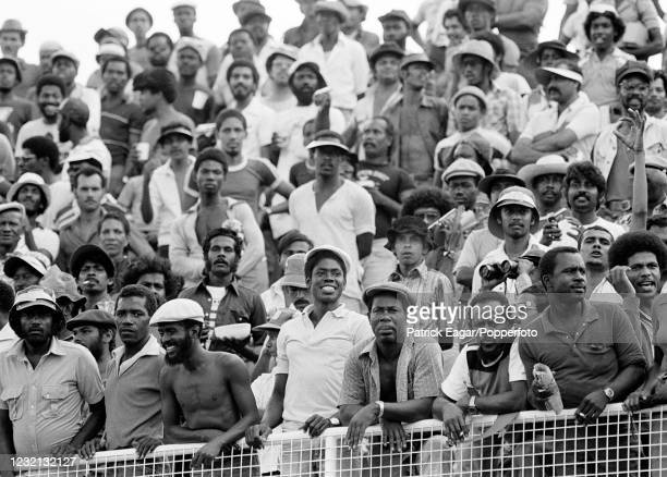 Spectators growing impatient for the start of the 1st Test match between West Indies and England at Queen's Park Oval, Port of Spain, Trinidad, 13th...
