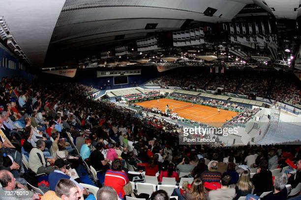 Spectators in CEZ Arena in Ostrava during the Davis Cup World Group 2007 Match between Czech Republic v USA at the CEZ Arena on February 8 2006 in...