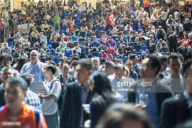 Spectators in the Happy Valley Racecourse
