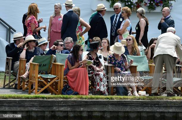 Spectators in the Members Enclosure during the Henley Royal Regatta on The River Thames on July 6 2018 in Henley England