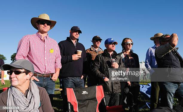 Spectators look on during the British National Sheep Dog Trials on August 6, 2016 in York, England. Some 150 of the best sheepdogs and handlers in...