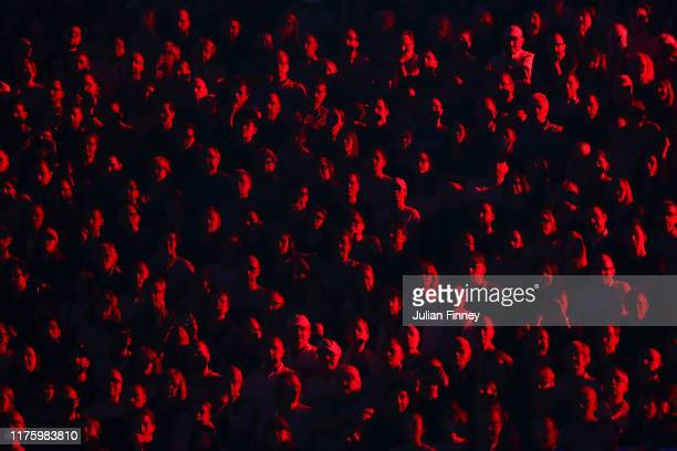 Spectators look on during the doubles match between Roger Federer and Alexander Zverev of Team Europe and Jack Sock and Denis Shapovalov of Team...