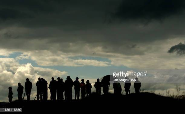 Spectators look on during the final match on day five of the RA Womens Amateur Championship at Royal County Down Golf Club on June 15 2019 in...