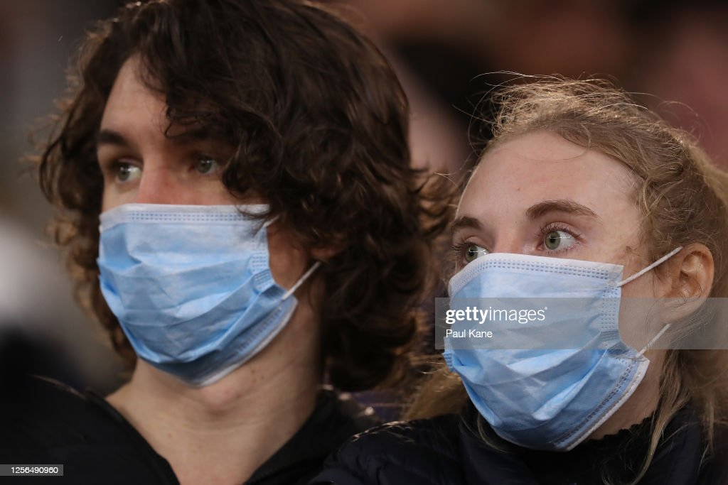 Spectators Look On Wearing Face Masks During The Round 7 Afl Match News Photo Getty Images