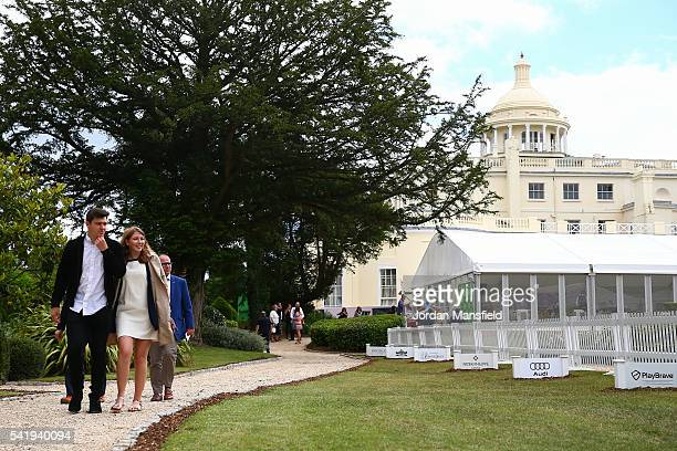 Spectators make their way into the grounds during day one of The Boodles Tennis Event at Stoke Park on June 21, 2016 in Stoke Poges, England.
