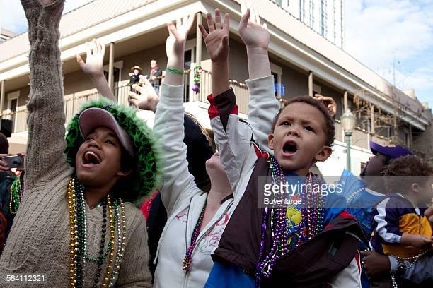 Spectators Mardi Gras Mobile Alabama