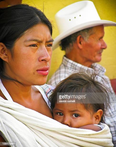 Spectators of the Semana Santa celebtarions in Antigua Guatemala