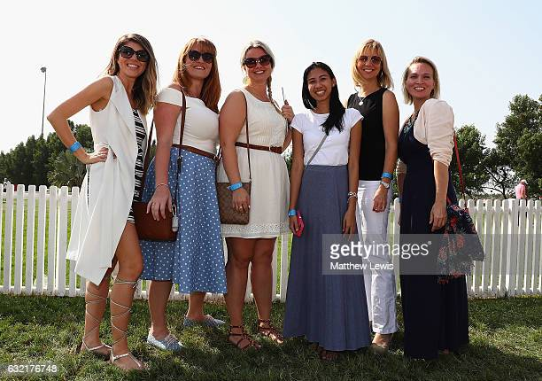 Spectators pictured during 'Ladies Day' during day two of the Abu Dhabi HSBC Championship at Abu Dhabi Golf Club on January 20, 2017 in Abu Dhabi,...