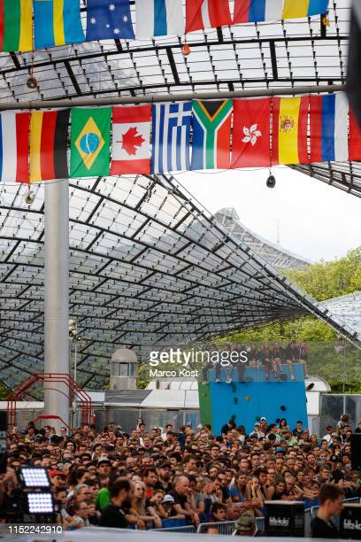 Spectators seen during the finals of the IFSC Climbing World Cup Munich on May 19 2019 in Munich Germany