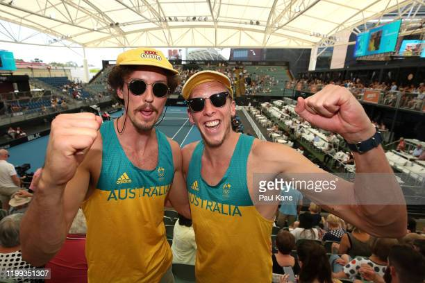 Spectators show their support during day three of the 2020 Adelaide International at Memorial Drive on January 14 2020 in Adelaide Australia
