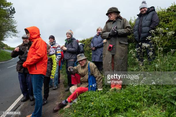Spectators wait to cheer riders climbing Cote Lythe Bank during Stage 2 of the Women's race of the Tour de Yorkshire cycling race on May 04 2019 in...