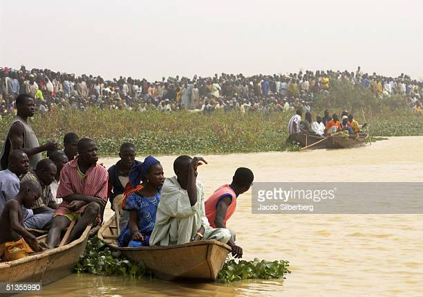 Spectators watch a duck hunting competition at the Argungu Fishing Festival on March 19 in Argungu Nigeria The Argungu Fishing Festival was first...