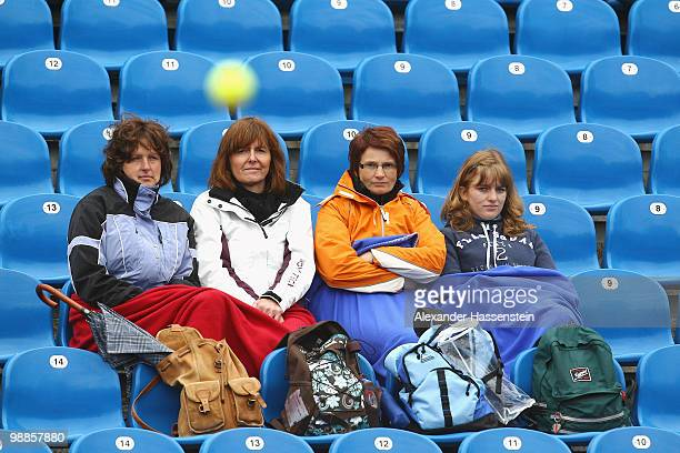 Spectators watch a match during day 4 of the BMW Open at the Iphitos tennis club on May 5, 2010 in Munich, Germany.