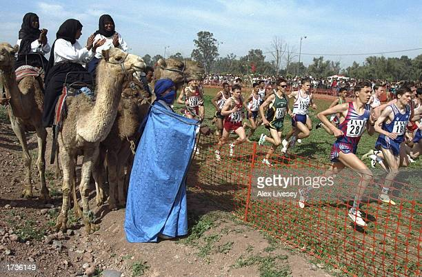 Spectators watch an event during the World Cross Country Championships in Marrakech Morocco on the 21st of March 1998