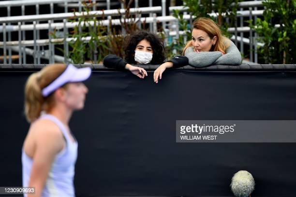 Spectators watch Gippsland Trophy women's singles tennis match between Russia's Ekaterina Alexandrova and Slovakia's Anna Karolina Schmiedlova in...