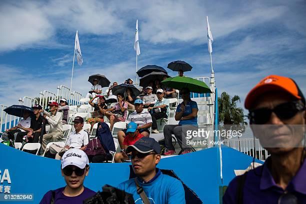 Spectators watch in the Fubon Taiwan LPGA Championship on October 8 2016 in Taipei Taiwan