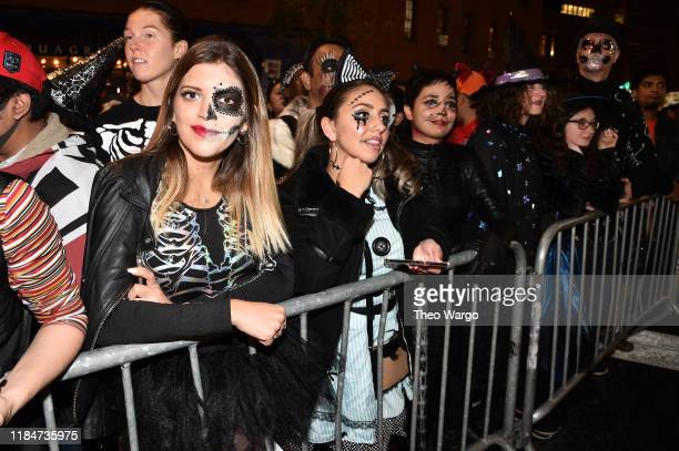 Spectators watch the 46th Annual Village Halloween Parade on October 31 2019 in New York City