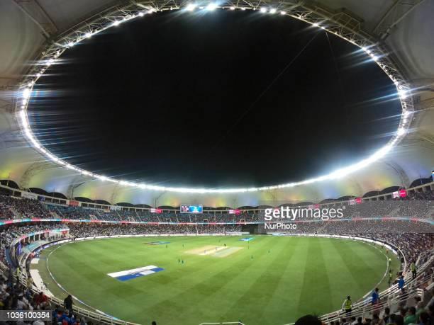 Spectators watch the 5th cricket match of Asia Cup 2018 between India and Pakistan at Dubai International cricket stadium,Dubai, United Arab Emirates.