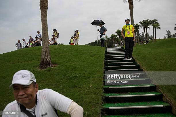 Spectators watch the competition in the Fubon Taiwan LPGA Championship on October 8 2016 in Taipei Taiwan