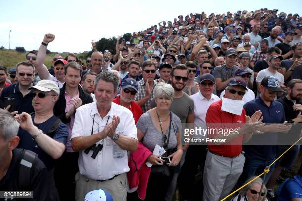 Spectators watch the play during the third round of the 146th Open Championship at Royal Birkdale on July 22 2017 in Southport England